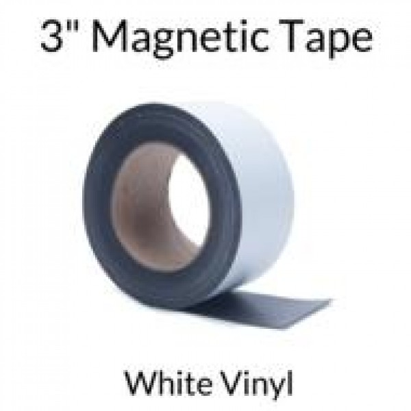 "3"" Magnetic Tape with White Vinyl"