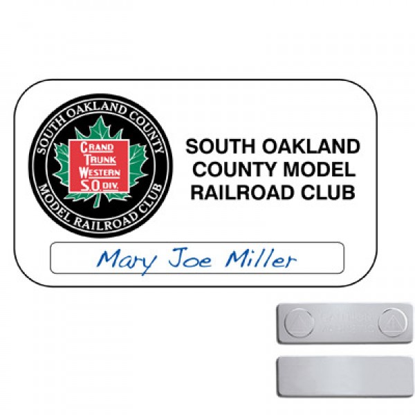 "3.5"" x 2 "" Rectangle Magnetic Name Tag"