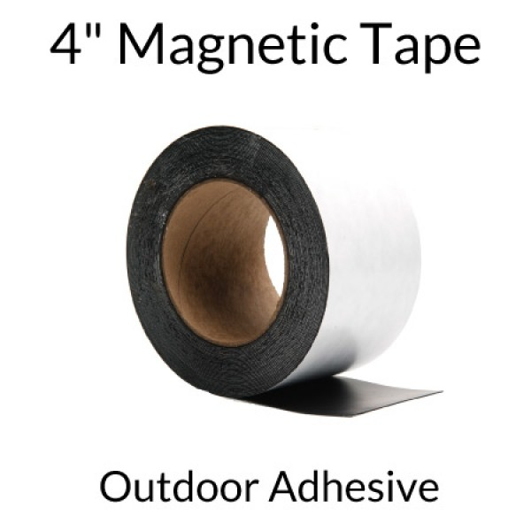 """4"""" Magnetic Tape with Outdoor Adhesive"""
