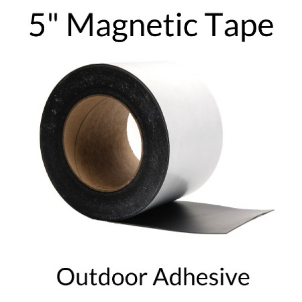 """5"""" Magnetic Tape with Outdoor Adhesive"""