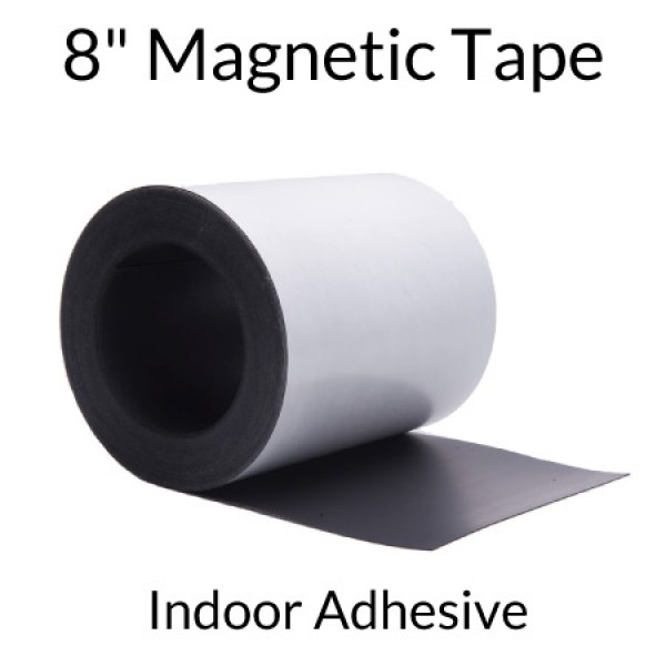 "8"" Magnetic Tape with Indoor Adhesive"