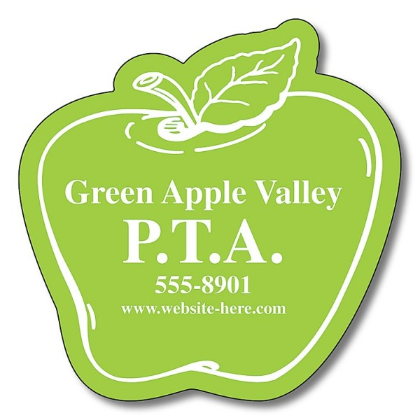 "Custom Apple Shaped Magnets 2.5"" x 2.5"""