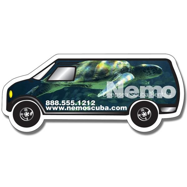 "Custom Van Shaped Magnets - 5.25"" x 2.25"""