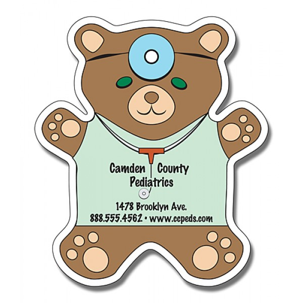 "Custom Teddy Bear Shaped Magnets 4"" x 4.625"""