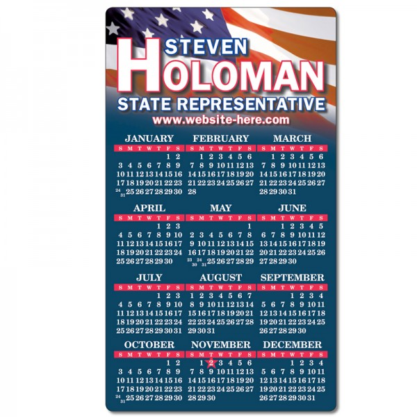 4 x 7 Custom Calendar Fridge Magnet