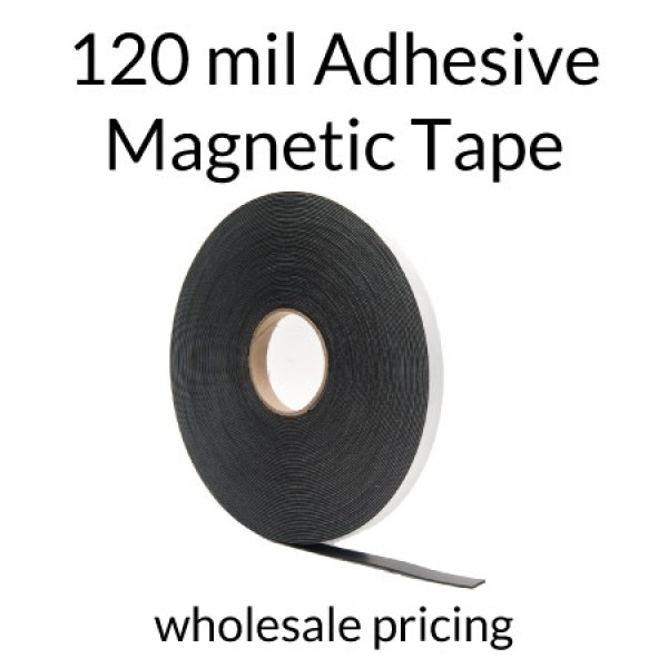 Magnet Strips with Adhesive - 120mil 100' Rolls Bulk Pricing