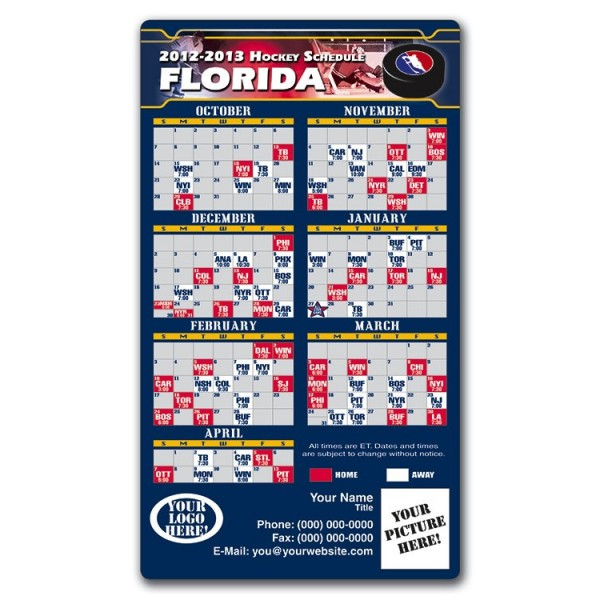 "Florida Panthers Hockey Schedule Magnets 4"" x 7"""