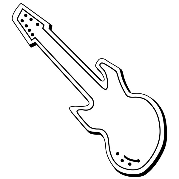 "Custom Guitar Shaped Magnets 1.5"" x 4.125"""
