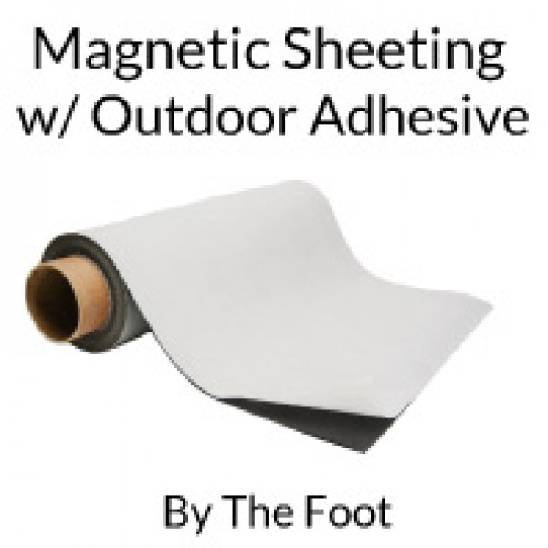 Flexible Magnetic Sheets with Outdoor Adhesive - By The Foot