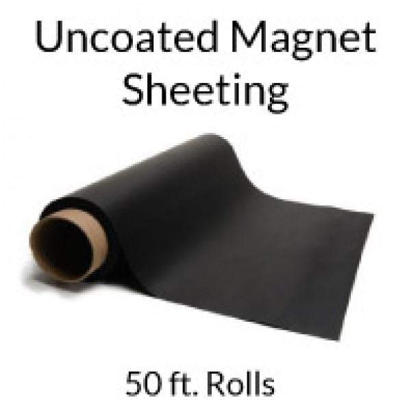 Uncoated Flexible Magnetic Sheeting 50' Rolls