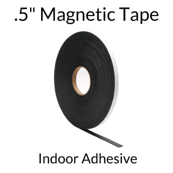 ".5"" Magnetic Tape with Indoor Adhesive"