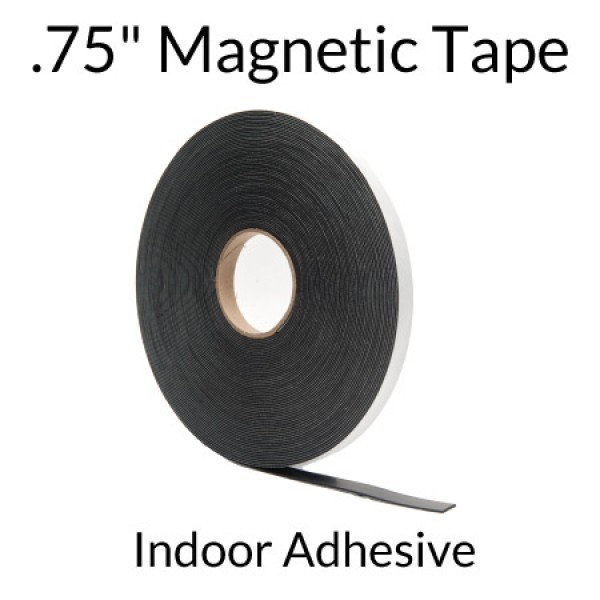 """.75"""" Magnetic Tape with Indoor Adhesive"""