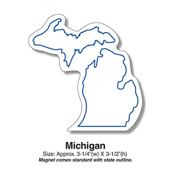 "Michigan State Shaped Fridge Magnets - 3.25"" x 3.5"""
