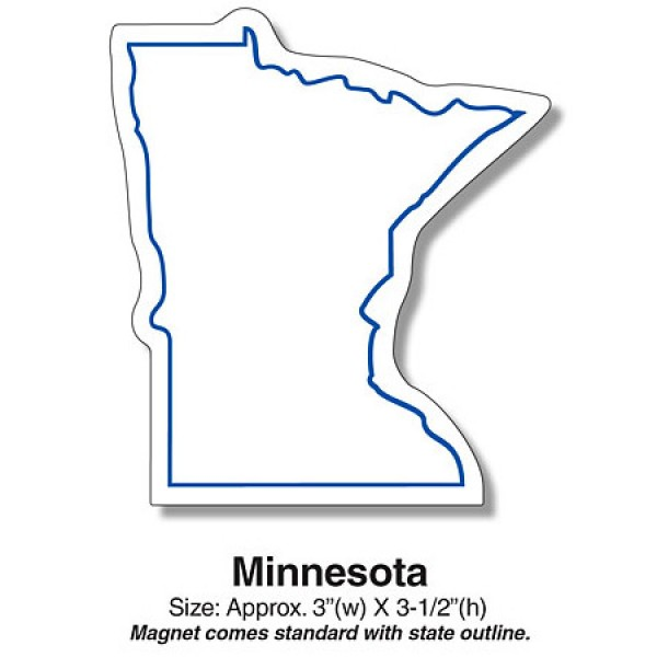 "Minnesota State Shaped Fridge Magnets- 3"" x 3.5"""