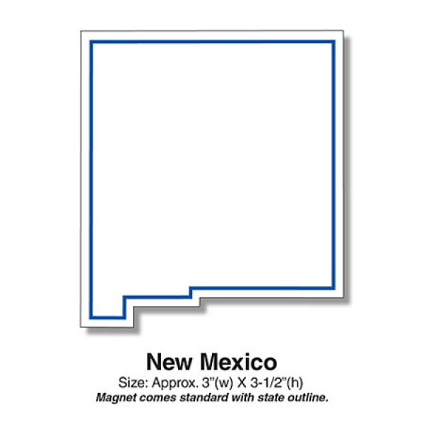 Custom New Mexico State Shaped Magnets