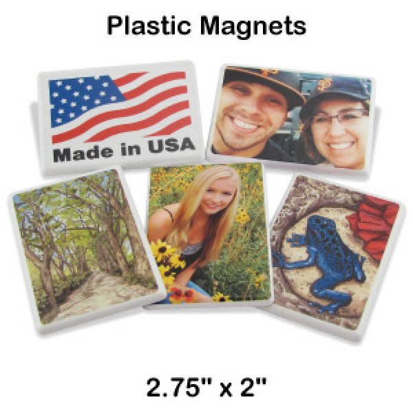 "2.75"" x 2"" Custom Plastic Magnets"