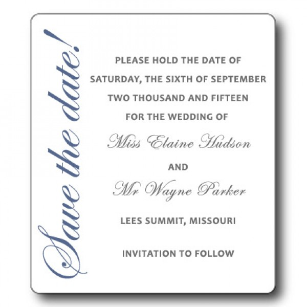 """Save the Date Magnets - Simple & Classic 3.5"""" x 4"""""""