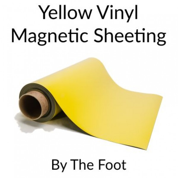 Yellow Magnetic Sheeting - By the Foot