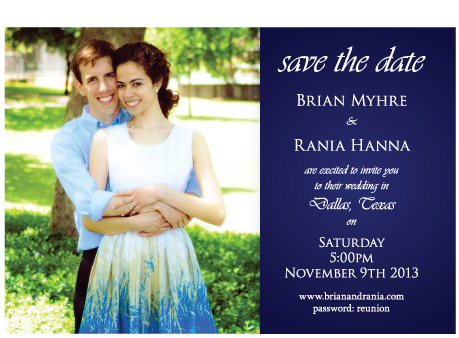 Dallas, TX Save the Date Magnet