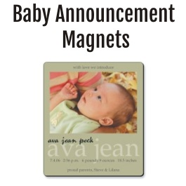 Baby Announcement Magnets