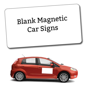 Blank Magnetic Car Signs
