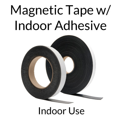Magnet Tape Rolls with Adhesive - Indoor Use