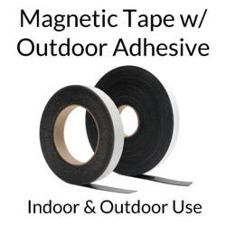 Magnet Tape Rolls with Adhesive - Outdoor Use