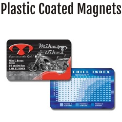 Retail Quality Plastic Coated Magnets