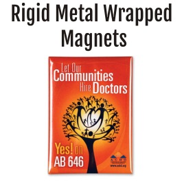 Rigid Metal Wrapped Magnets