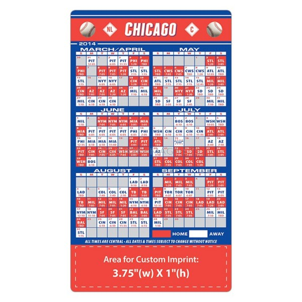 It's just an image of Lively Printable Cubs Schedule