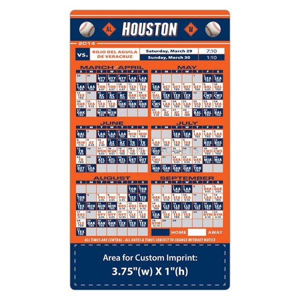 Custom Houston Astros Baseball Team Schedule Magnets 4