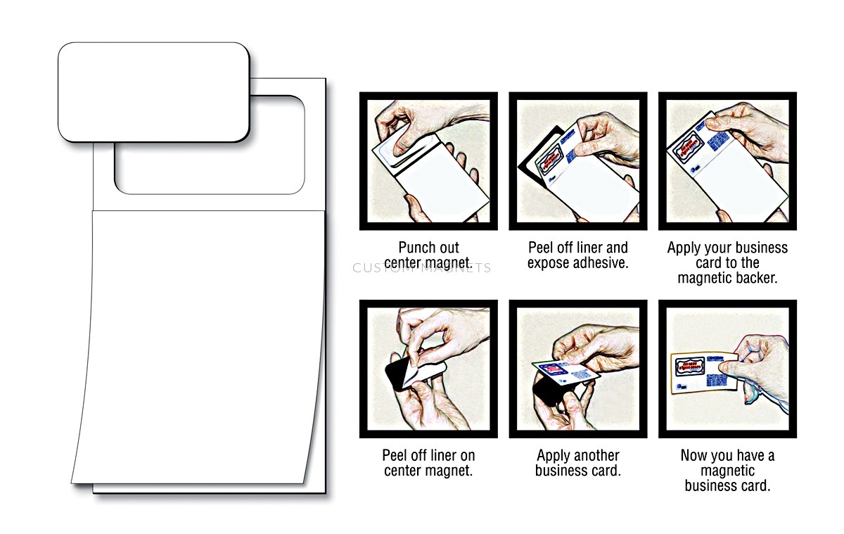 Peel-n-Stick Business Card Blank Magnetic Notepads | Custom-Magnets
