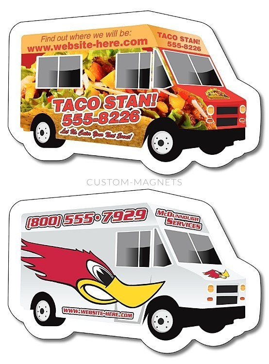 Custom Food Truck Magnets 4 Quot X 2 6 Quot Custom Magnets