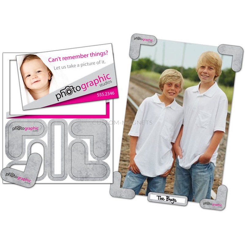 3 5 Quot X 2 Quot Picture Holder Magnets With Custom Business Card
