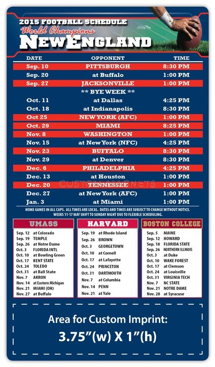 photo regarding New England Patriots Printable Schedule known as Contemporary England Patriots Qualified Soccer Timetable Magnets 4\