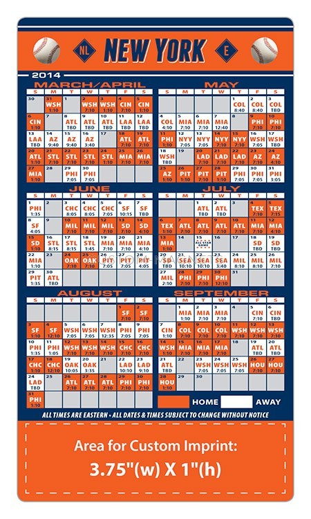 photograph about Printable Mets Schedule named Clean York Mets Baseball Workers Program Magnets 4\