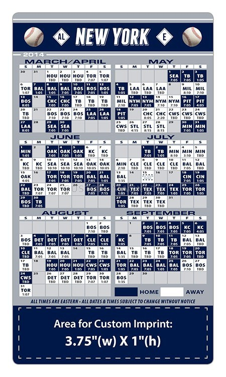 picture relating to Milwaukee Brewers Printable Schedule identify Fresh York Yankees Baseball Workers Routine Magnets 4\