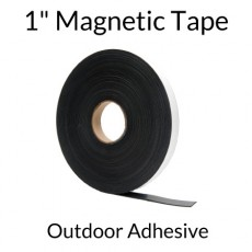 "1"" Magnetic Tape with Outdoor Adhesive - 100' Roll"