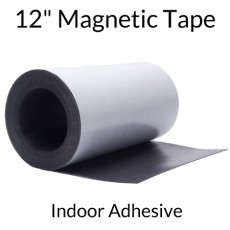 "12"" Magnetic Tape Roll with Indoor Adhesive - 60 mil"