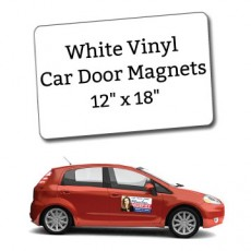 "12"" x 18"" Blank Car Magnets - Round Corners"