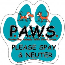 """Paw Print Magnetic Car Sign - 6"""" x 6"""""""