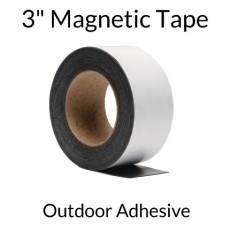 "3"" Magnetic Tape with Outdoor Adhesive"
