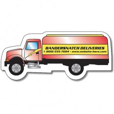 "Custom Oil Tanker Truck Shaped Magnets - 3.72"" x 1.625"""