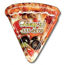"Custom Pizza Slice Shaped Magnets 2.44"" x 2.63"""