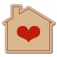 "3.125"" x 2.875"" Custom House Shaped Magnet"