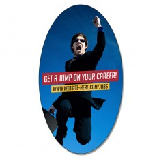 "2.25"" x 4"" Oval Magnets Custom Printed With Your Artwork"