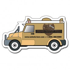 "Custom Armored Truck Shaped Magnets - 4"" x 2.25"""