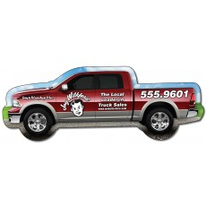 "Custom Pick-Up Truck Shaped Magnets - 5.125"" x 1.9"""