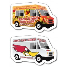 "Custom Food Truck Magnets 4"" x 2.6"""