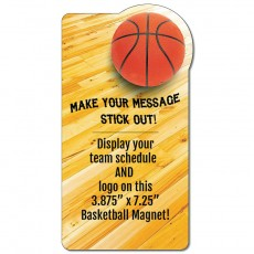 "Custom Basketball Court  Rectangle Magnets - 3.875"" x 7.25"""